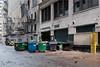 Dumpsters next to Fire Escape (ZRQ73P) Tags: dumpster usa chicago fireescape backstreet