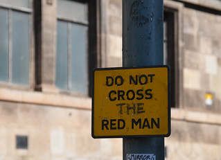 do not cross the red man