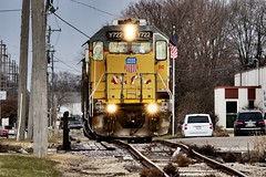 Material Blvd. (Laurence's Pictures) Tags: union pacific cnw chicago northwestern cgu rockford illinois transportation freight rail emd railway railroad locomotive