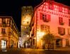 Ribeauvillé by Night (MF[FR]) Tags: alsace street city ville nuit basrhin night france rue long exposure pose longue samsung nx3000 ribeauvillé tour tower lights lumières éclairage