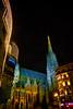 Vienna by Night: Stephansdom (macplatti) Tags: xt2 xf18mmf2r wien vorarlberg austria aut cathedral dom stephansdom beleuchtung lightshow light licht color colormania farbe farbenspiel