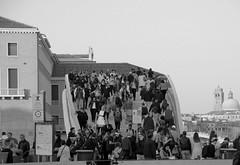 Calatrava bridge (pjarc) Tags: europe europa italy italia veneto venetian venice venezia calatrava ponte bridge city città architecture architettura gente people foto photo bw black white biancoenero digital nikon dx 2017