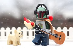 Boba Fett is almost home and is going to enjoy his long long weekend.... ❤😁 (Legoliscious) Tags: bobafett starwars outdoors snow music guitar dog movies bountyhunter macro hiking toy toyphotography lego legostarwars legography minifig minifigures legos legominifig weekend hotdog snack pet