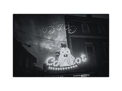 Cot Cot (Virgil Mlesnita) Tags: december winter street city clujnapoca food night chicken humour holiday blackandwhite virgilmlesnita