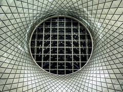 Sky Reflector-Net (brianloganphoto) Tags: pattern mirrors manhattan northamerica regions abstract newyork transit ny interior reflectors subway oculus newyorkcity art trainstation mta unitedstates downtown transportation skylight us