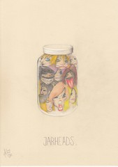 Jarheads (Klaas van den Burg) Tags: absurd surrealism humor sarcasm color pencil