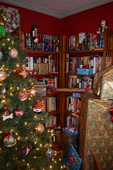 Presents Climb the Bookcase (RockN) Tags: christmas presents december2017 worcester massachusetts newengland