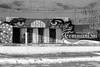 Buzludja enter (ZUHMHA) Tags: bulgarie bulgaria hiver winter monochrome buzludja mur wall letter lettre mot word sign texte text écriture fence grille grillage barrière neige snow line lignes courbes curve geometry géométrie
