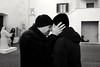My best shot (Anciuti) Tags: leicaq monochrome blackandwhite kiss lovers umbria massamartana love