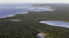 Aerial View of the Bruce Peninsula (blueheronco) Tags: aerial aerialview niagaraescarpment cypruslake cabothead georgianbay brucepeninsula ontario canada