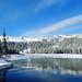Receding Ice on Twin Lakes, Mammoth Lakes, CA 2017