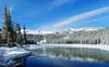 Receding Ice on Twin Lakes, Mammoth Lakes, CA 2017 (inkknife_2000 (8.5 million views +)) Tags: mammothca springsnowstorm treeswithsnow sierranevadarange freshsnowonground waterreflection usa landscape snow dgraham photo california newsnow morningsnow twinlakes crystalcrag forest iceonlake trees pines firs waterreflections settingmoon moonfall featheryclouds skyandclouds lakes