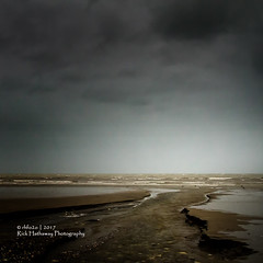 Happy New year to all (rhfo2o - rick hathaway photography) Tags: rhfo2o canon canoneos7d elmer elmersands bognorregis westsussex beach sea seaside sand waves clouds horizon dull windy happynewyear