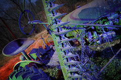 Green-Blue Tractor (Notley Hawkins) Tags: httpwwwnotleyhawkinscom notleyhawkinsphotography notley notleyhawkins 10thavenue lightpainting trees fall outdoors 2017 november night nocturne evening light bucolic ruralfarm missouri farm missouriphotography ruralphotography midwest ruralusa 光绘 光繪 lichtmalerei pinturadeluz ライトペインティング प्रकाशपेंटिंग tractor shadows