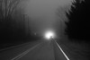 20171223 (Homemade) Tags: car road driving route35 southsalem lewisboro ny newyork nikon2470mmf28 nikkor2470mmf28 bw blackandwhite westchestercounty traffic fog