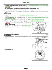 Nissan Note 2006 Rear Axle Service Manual RAX-6 (DrJohnBullas) Tags: nissan note 2006 rear axle wheel bearing replacement