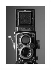 Rollei (DJ Wolfman) Tags: blackandwhite bw vintage camera rolleiflex classiccamera vintagecamera rollei film analog twinlens twinlensreflex tlr