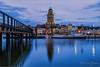 Deventer Skyline (2) (Hans van Bockel) Tags: 1680mm city d7200 front hdr ijssel le nikkor nikon pier rivier stad statief worp deventer cr nik photoshop