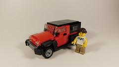 Jeep Wrangler (Fictitious Pasta) Tags: lego legocar legobuild legophotography legotoys legocars legolego jeep wrangler build 1 43 scale
