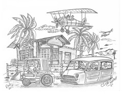 Clyde Gofish (rod1691) Tags: myart art sketchbook bw scifi grey concept custom car retro space hotrod drawing pencil h2 hb original story fantasy funny tale automotive illistration greyscale moonpies sketch sexy