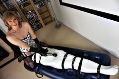 Mummification facesitting (Miss Nina Jay) Tags: mummification trannie bondage