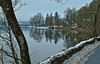 Winter comes to Loch Ard (murraymcbey) Tags: winter snow boathouse loch trees lochard scotland