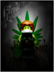 Poison Ivy, Gotham by Gaslight (LegoKlyph) Tags: lego custom bricks blocks mini figure poison ivy plants batman steampunk victorian comic book dc toxic gotham gaslight