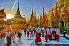 Shwedagon Pagoda (gerard eder) Tags: world travel reise viajes asia southeastasia birmania birma burma myanmar yangon shwedagon shwedagonpagoda pagoda temple templos tempel buddha buddhist people peopleoftheworld monks mönche sunset sonnenuntergang puestadesol outdoor sacral