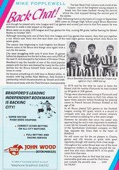 Bradford City vs West Bromwich Albion - 1989 - Page 30 (The Sky Strikers) Tags: bradford city wba west bromwich albion brom the valley parade littlewoods cup road to wembley official programme 80p
