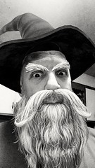 Well, Winter is coming (PhotoJester40) Tags: indoors inside beard mustache bnw bn blackandwhite blackwhite me selfie phonefilter memyselfandi havingfun beingsilly