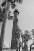 Ponce de Leon Inlet Lighthouse (photos_by_Henna) Tags: canon poncedeleon inlet lighthouse florida coast bw blackandwhite blackwhite travel palm trees sky tall tree