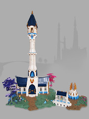 Tower of Lothern (Dwalin Forkbeard) Tags: lego moc elf elves tower outpost magic isle gates gate