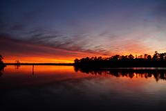 Sunset Reflections (Jim Atkins Sr) Tags: sunset spectacularsunsetsandsunrises cloudsstormssunsetssunrises dusk afterglow creek northcarolina northwestcreek reflections fairfieldharbour sony sonya58 sonyphotographing