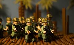 """Jungle Patrol"" (Cheesehead1205) Tags: lego vietnam nikon nikond3300 d3300 duty defending patrol jungle palm tree"