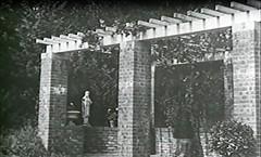 Allerton House early pergala with figurine completed, Monticello, IL c1900 (RLWisegarver) Tags: piatt county history monticello illinois usa il