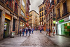 Old Town Madrid, Spain (` Toshio ') Tags: toshio madrid spain europe spanish european europeanunion oldtown street store shopping people fujixe2 xe2 cafe restaurant