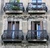 Elegant support:  Four balconies in Barcelona (Spencer Means) Tags: dwwg balcony balcón balkon dreta eixample modernisme modernista building stone stonework carved carving barcelona catalunya catalonia spain
