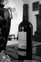 Botella de vino (José Miguel S) Tags: wine vino winebottle botelladevino blackandwhitephotography