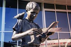 Museum of Flight_NASA_Statue_Kids (Zero State Reflex) Tags: museumofflight kids inspiration future statue sculpture washington pnw seattle