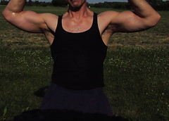 BIG BULGING BICEPS (flexrogers963) Tags: muscle muscukar muscles mondo thick bicep biceps bizeps bodybuilding bodybuilder chets pecs abs flex flexinh delts workout weightlifter guns jacked ripped traps rockhard lats exercise fit fitness peak triceps huge big massive muscular veins bodybuild bodyboulder chest gym hugebiceps gross