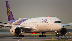 HS-THD (tynophotography) Tags: thai airways a350 hsthd fra eddf a350900 a359 sunset airbus