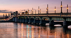 Bridge of Lions. (Jill Bazeley) Tags: bridge lions st saint augustine florida johns county intracoastal waterway a1a sunset sunrise matanzas anastasia island bay double leaf bascule sony a6300 1670mm drawbridge