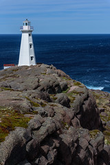 The New Lighthouse (Brett of Binnshire) Tags: lighthouse water mountains highdynamicrange weather capespear hdr ocean manipulations lrhdr locationrecorded scenic lightroomhdr historicalsite newfoundland canada clouds cliff mountain