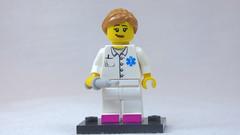 Brick Yourself Custom Lego Figure - Nurse with Pink Shoes