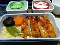 KA Inflight Lunch: Roast Chicken Rice (阿Dex) Tags: chicken roastchicken inflightmeal inflightfood food yummy carrot rice mushroom ka cathaydragon haagendazs water