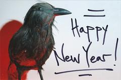 Black Bird New Year (Jetcraftsofa) Tags: nikonf3 vivitar5528macro sb23 sunpak20 speedlight flashphotography 35mm slr filmphotography marker newyearsday multipleflash coloredshadows