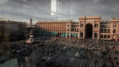 Milano, Italy (DiSorDerINaMirrOR) Tags: sonyalpha sony6000 sony sonyalpha6000 milano milan lombardia lombardy italia italien italy cityscape city architecture duomo gallerie square piazza