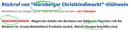 """München warnt vor Nürnberger Glühwein aus Bingen, aha. Und hießen die Dinger nicht Chargen? - Manche Tage sind einfach nicht zum Schreiben gemacht. • <a style=""""font-size:0.8em;"""" href=""""http://www.flickr.com/photos/77921292@N07/25623822948/"""" target=""""_blank"""">View on Flickr</a>"""