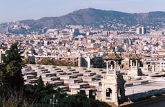 Montjuic views. Barcelona, November 17. (arsenterzyan) Tags: analog 35mm autumn arsent grain film portra160 kodak eos3 canon 70200 urban sun spain travel catalonia montjuic cemetery barcelona cityscape city