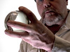 Selfie and the Crystal ball. . . (CWhatPhotos) Tags: cwhatphotos self portrait m man male hold holding look selfie photographs photograph pics pictures pic picture image images foto fotos photography that have which with contain mk digital camera lens glass orb crystal ball color colors colour colours shadow shadows cast macro close up